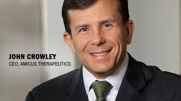 headshot of Amicus Therapeutics' CEO John Crowley