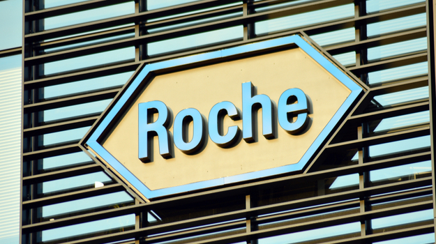 Roche logo on outdoor sign
