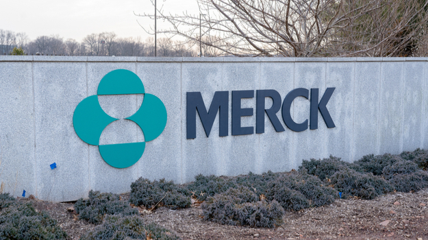 Merck logo on sign