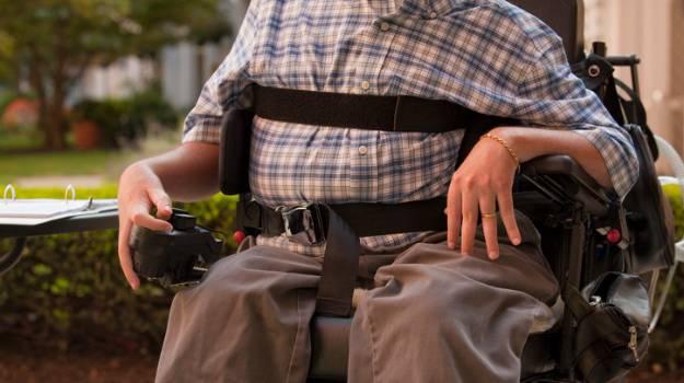 Man with Duchenne muscular dystrophy