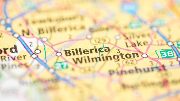 map image of Billerica, MA