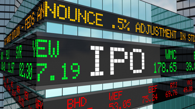 IPO letters on stock ticker