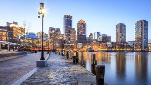 Boston skyline view